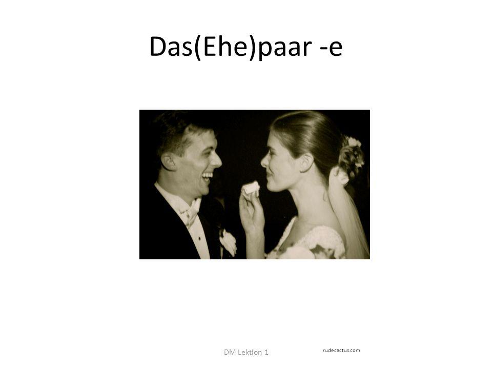 Das(Ehe)paar -e DM Lektion 1 rudecactus.com