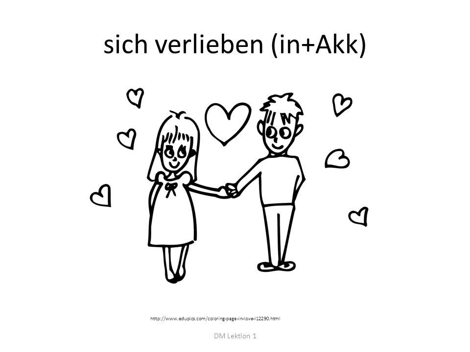 sich verlieben (in+Akk) DM Lektion 1 http://www.edupics.com/coloring-page-in-love-i12290.html