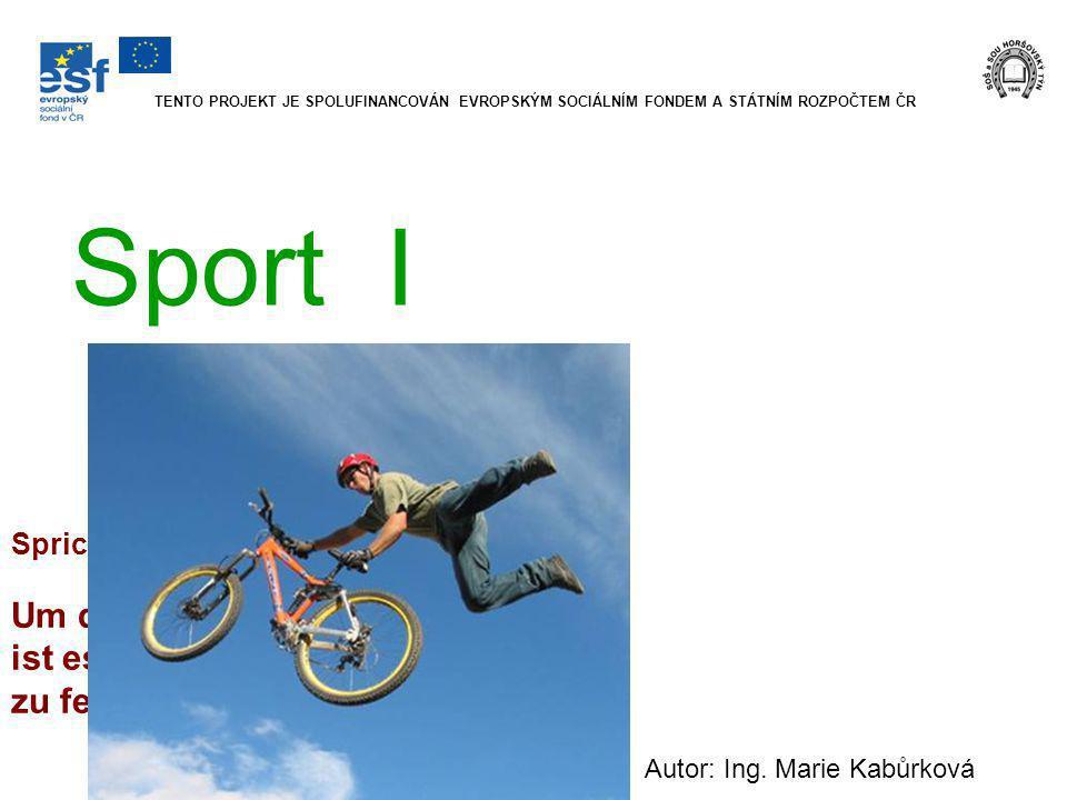 Sport I Autor: Ing.