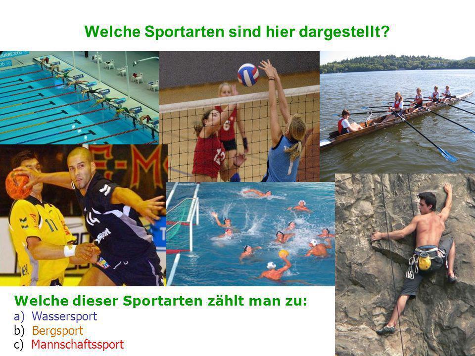 Welche Sportarten sind hier dargestellt.