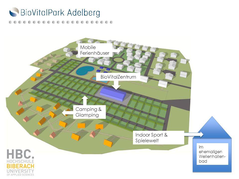 Mobile Ferienhäuser BioVitalZentrum Camping & Glamping im ehemaligen Wellenhallen- bad Indoor Sport & Spielewelt