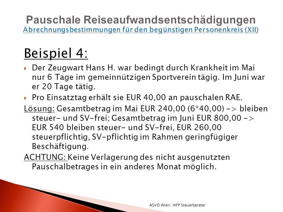 Beispiel 4: Der Zeugwart Hans H.