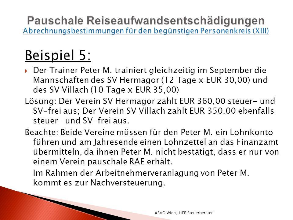 Beispiel 5: Der Trainer Peter M.