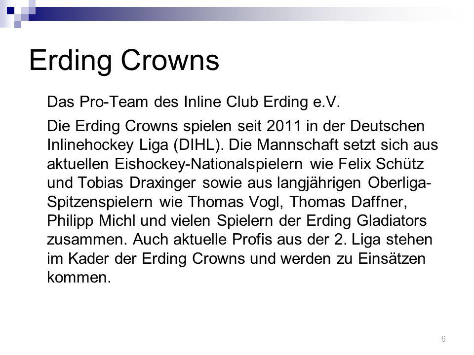 Erding Crowns Das Pro-Team des Inline Club Erding e.V.