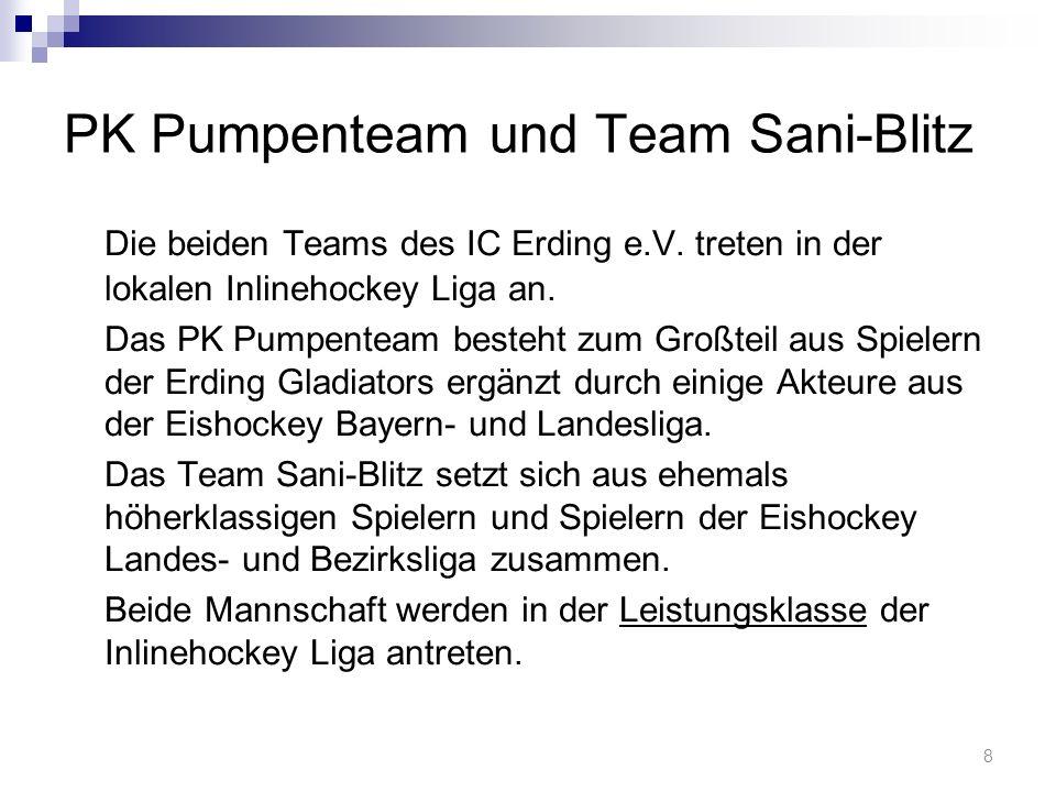 PK Pumpenteam und Team Sani-Blitz Die beiden Teams des IC Erding e.V.