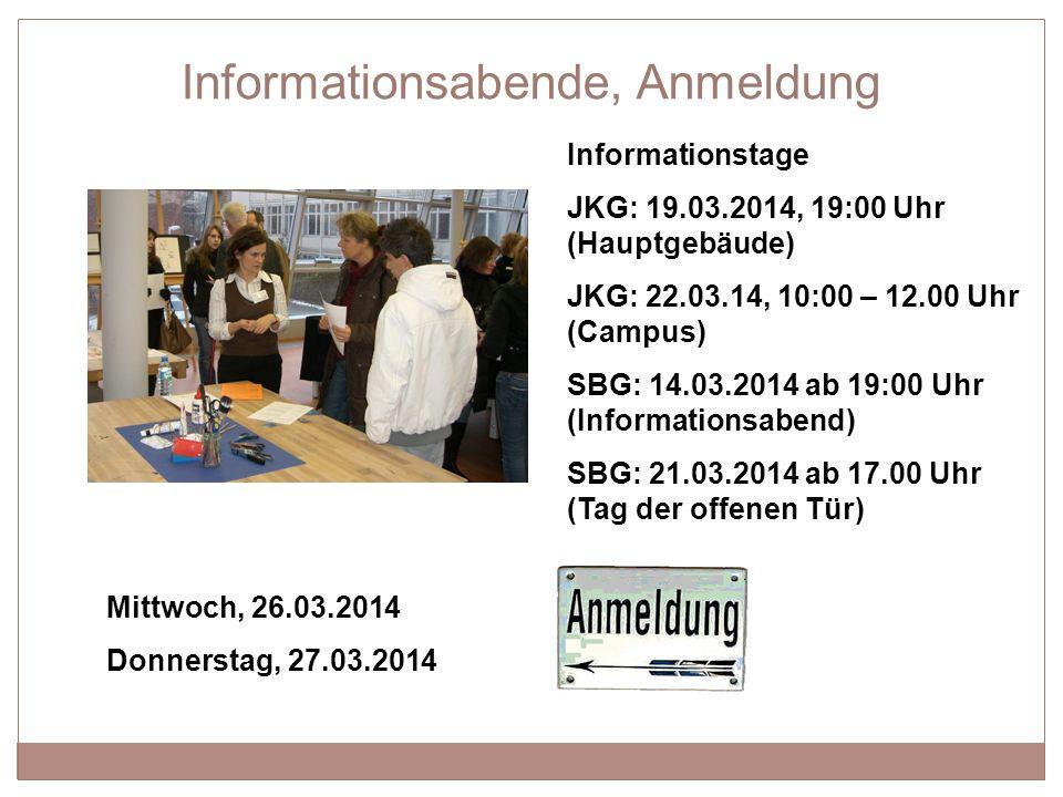Grundschulinformation: Gymnasium 15 Hanspeter Gaal, Justus-Knecht-Gymnasium 28.03.2014 Vielen Dank für Ihre Aufmerksamkeit !