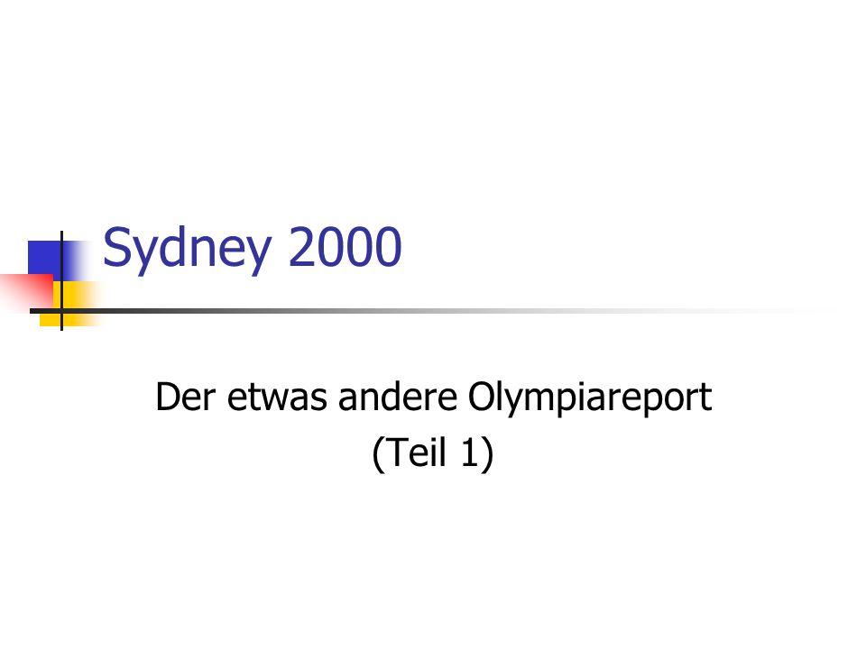 Hier seht Ihr ein paar Sportarten, die es leider nicht geschafft haben, bereits in Sydney olympisch zu werden....