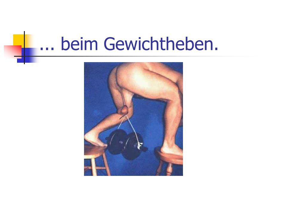 ... beim Gewichtheben.