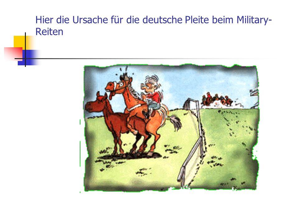 Hier die Ursache für die deutsche Pleite beim Military- Reiten