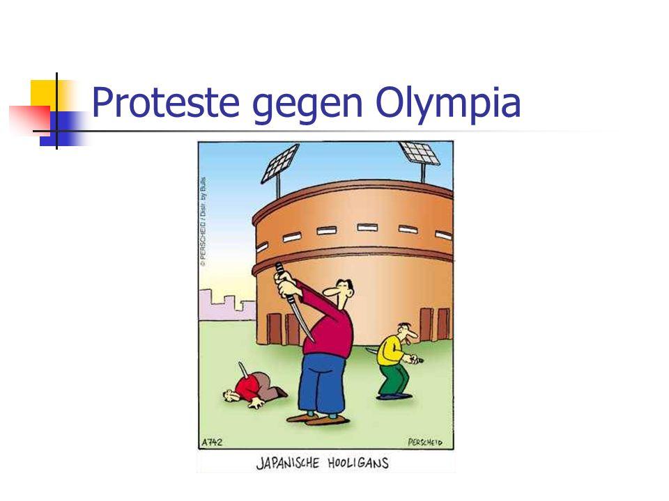 Proteste gegen Olympia