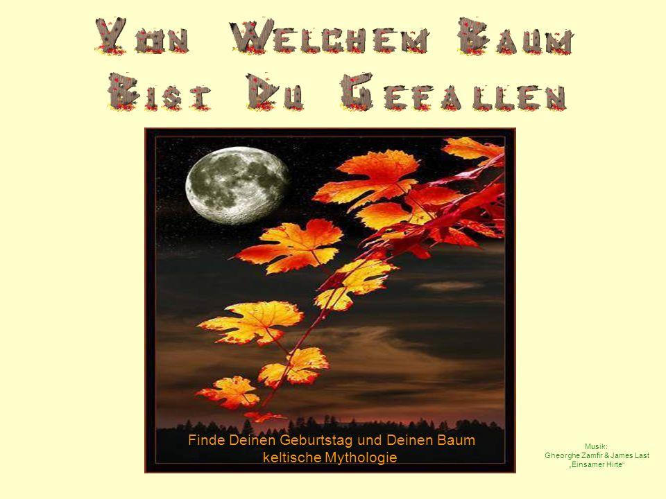Finde Deinen Geburtstag und Deinen Baum keltische Mythologie Musik: Gheorghe Zamfir & James Last Einsamer Hirte