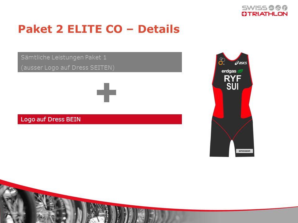 Paket 2 ELITE CO – Details Logo auf Dress BEIN Sämtliche Leistungen Paket 1 (ausser Logo auf Dress SEITEN)