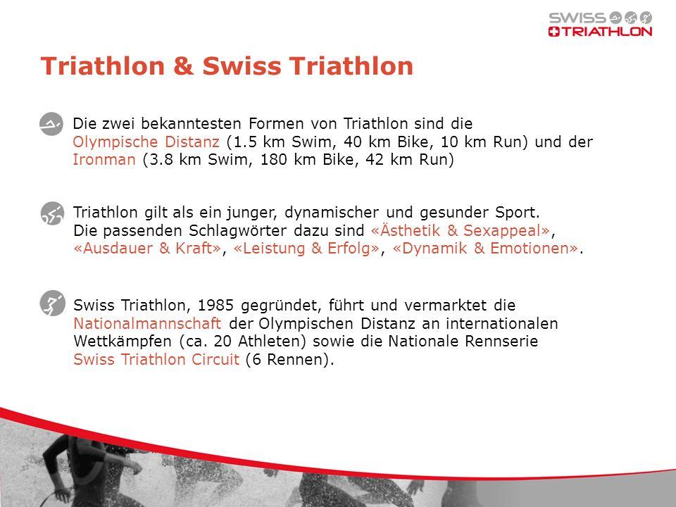 Triathlon & Swiss Triathlon Triathlon gilt als ein junger, dynamischer und gesunder Sport. Die passenden Schlagwörter dazu sind «Ästhetik & Sexappeal»