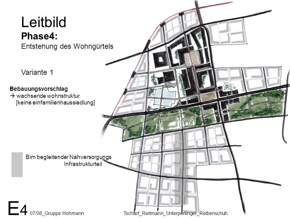 Leitbild Phase4: Entstehung des Wohngürtels Variante 1 E 4 07/08_Gruppe Hohmann Tscharf_Reitmann_Unterpertinger_Reibenschuh Bim begleitender Nahversor