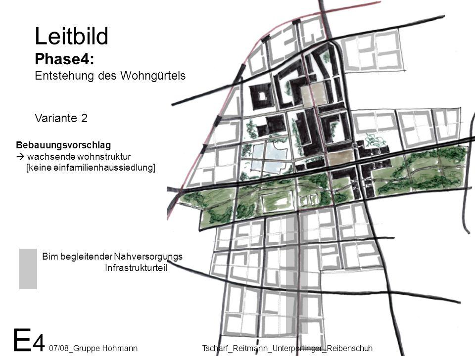 Leitbild Phase4: Entstehung des Wohngürtels Variante 2 E 4 07/08_Gruppe Hohmann Tscharf_Reitmann_Unterpertinger_Reibenschuh Bim begleitender Nahversor