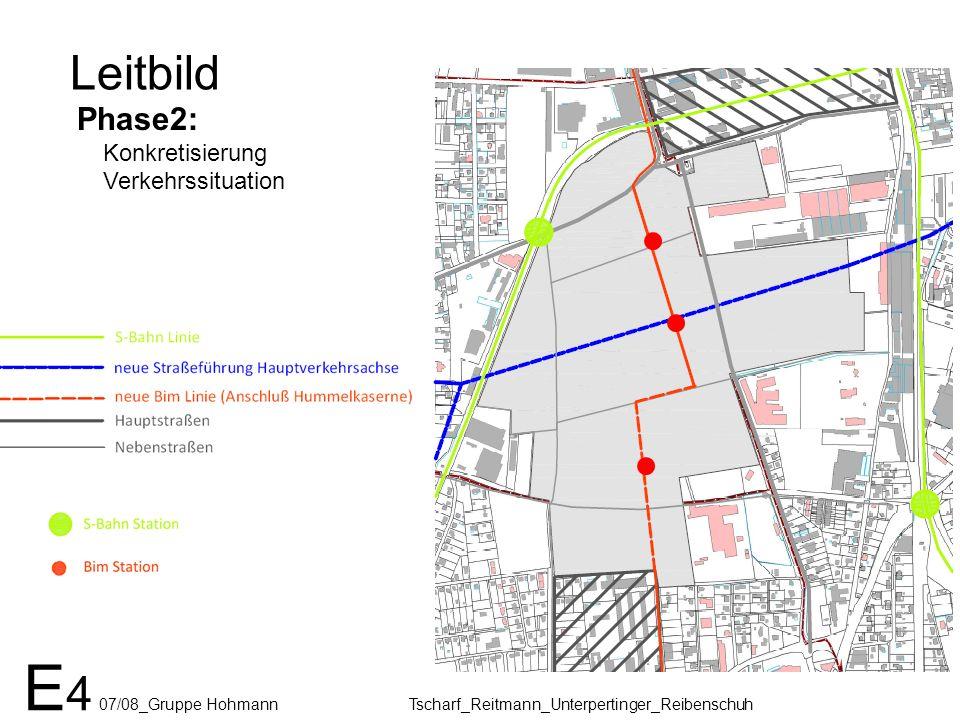 Leitbild Phase2: Konkretisierung Verkehrssituation Verkehrsberuhigung Tiefgarage Ein/Ausfahrt E 4 07/08_Gruppe Hohmann Tscharf_Reitmann_Unterpertinger_Reibenschuh