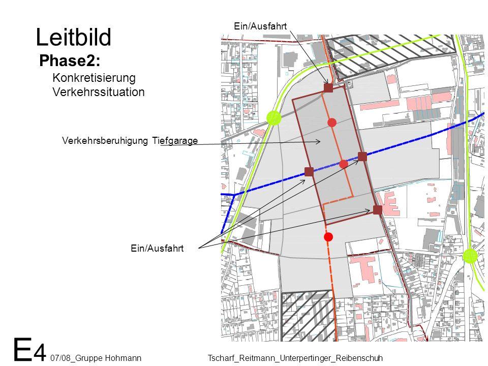 Leitbild Phase2: Konkretisierung Verkehrssituation Verkehrsberuhigung Tiefgarage Ein/Ausfahrt E 4 07/08_Gruppe Hohmann Tscharf_Reitmann_Unterpertinger