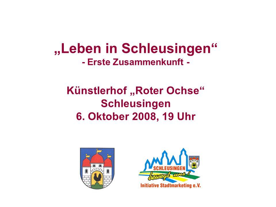 Leben in Schleusingen - Erste Zusammenkunft - Künstlerhof Roter Ochse Schleusingen 6. Oktober 2008, 19 Uhr