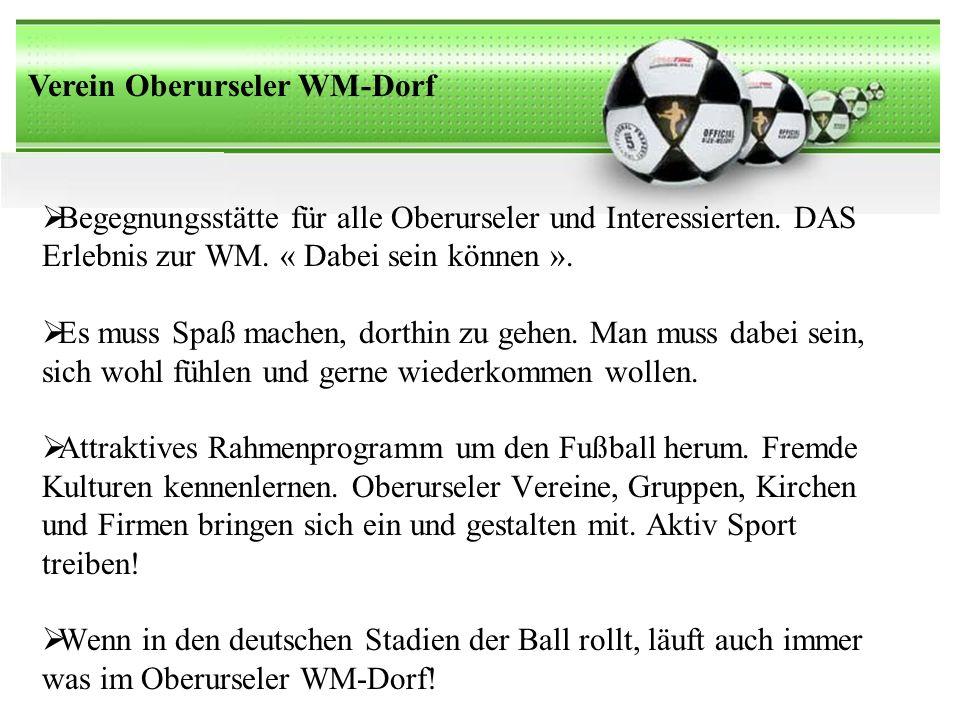 Verein Oberurseler WM-Dorf Begegnungsstätte für alle Oberurseler und Interessierten.