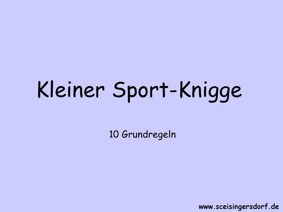 Regel Nr.8 Beschränke Dich auf die gebräuchlichen Techniken Deiner Sportart www.sceisingersdorf.de