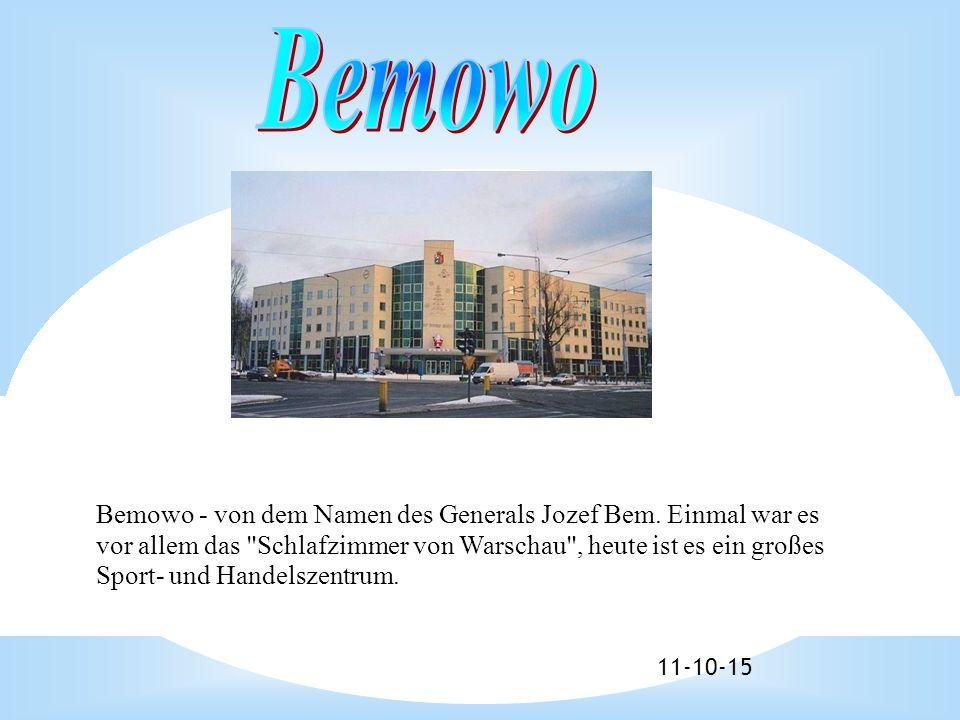 11-10-15 Bemowo - von dem Namen des Generals Jozef Bem.