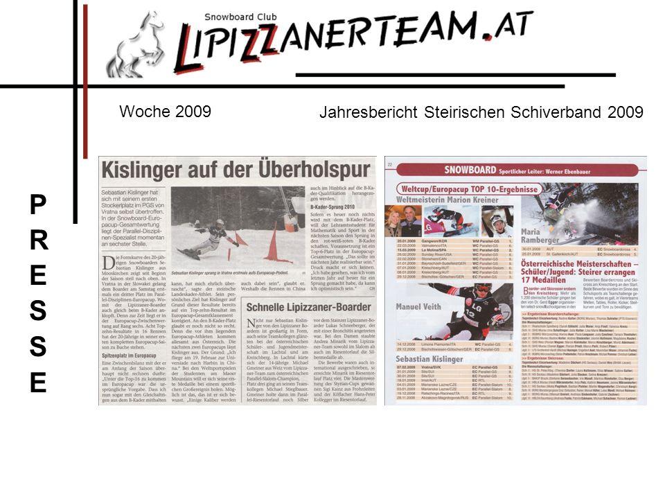 Woche 2009 Jahresbericht Steirischen Schiverband 2009