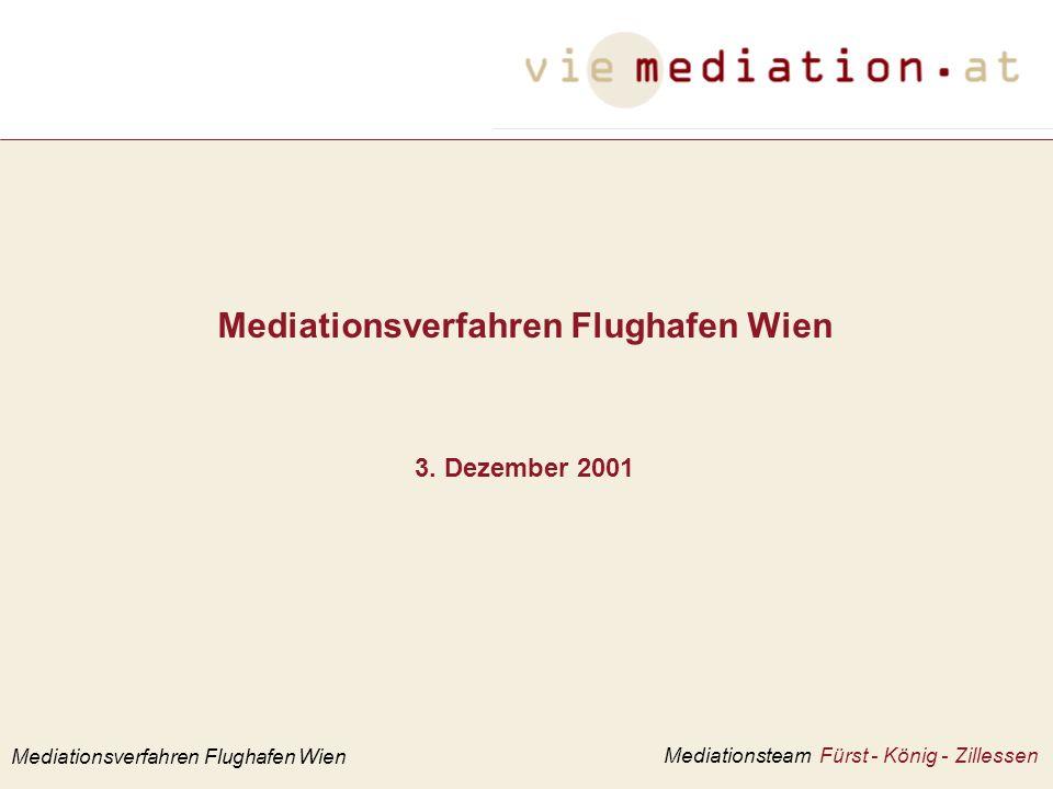 Mediationsverfahren Flughafen Wien 3.