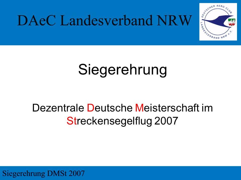 Dezentrale Deutsche Meisterschaft im Streckensegelflug 2007 Siegerehrung