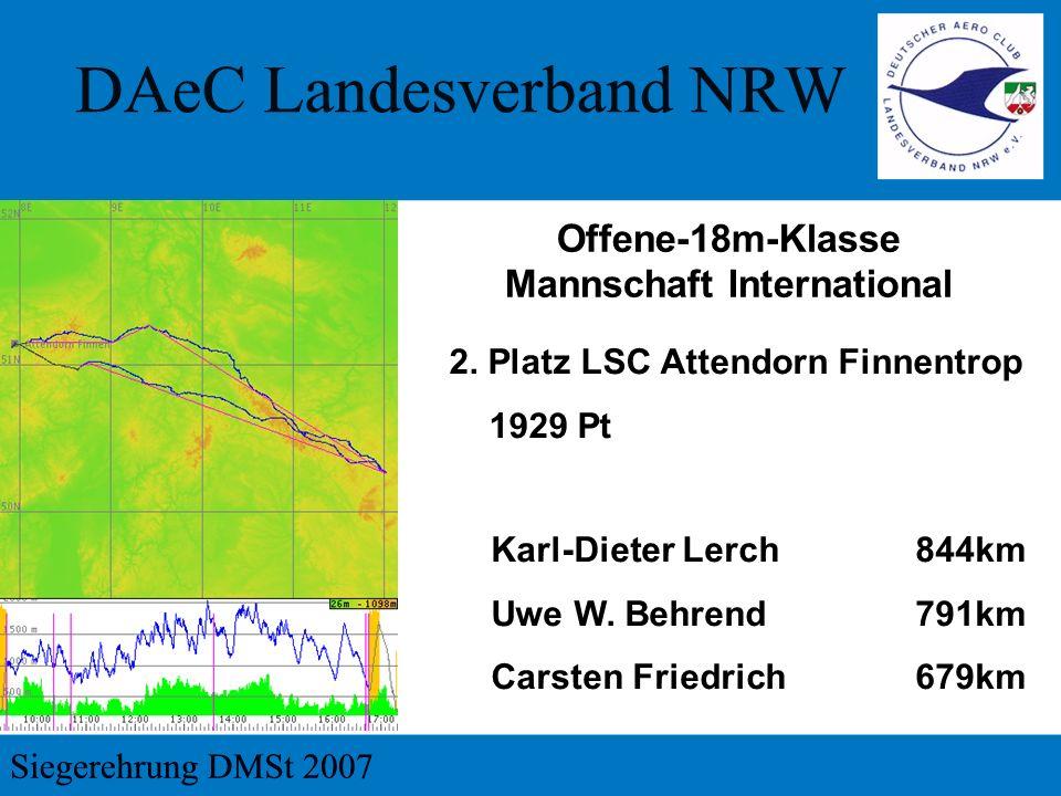 2.Platz LSC Attendorn Finnentrop 1929 Pt Karl-Dieter Lerch844km Uwe W.