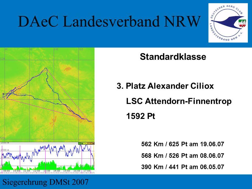 3. Platz Alexander Ciliox LSC Attendorn-Finnentrop 1592 Pt 562 Km / 625 Pt am 19.06.07 568 Km / 526 Pt am 08.06.07 390 Km / 441 Pt am 06.05.07 Standar