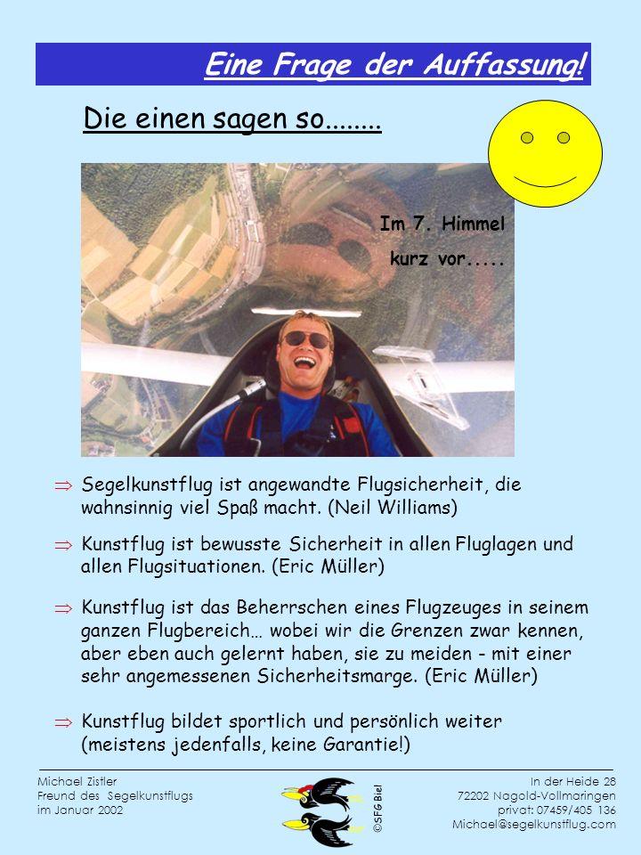 SFG Biel In der Heide 28 72202 Nagold-Vollmaringen privat: 07459/405 136 Michael@segelkunstflug.com Michael Zistler Freund des Segelkunstflugs im Januar 2002 Im 7.