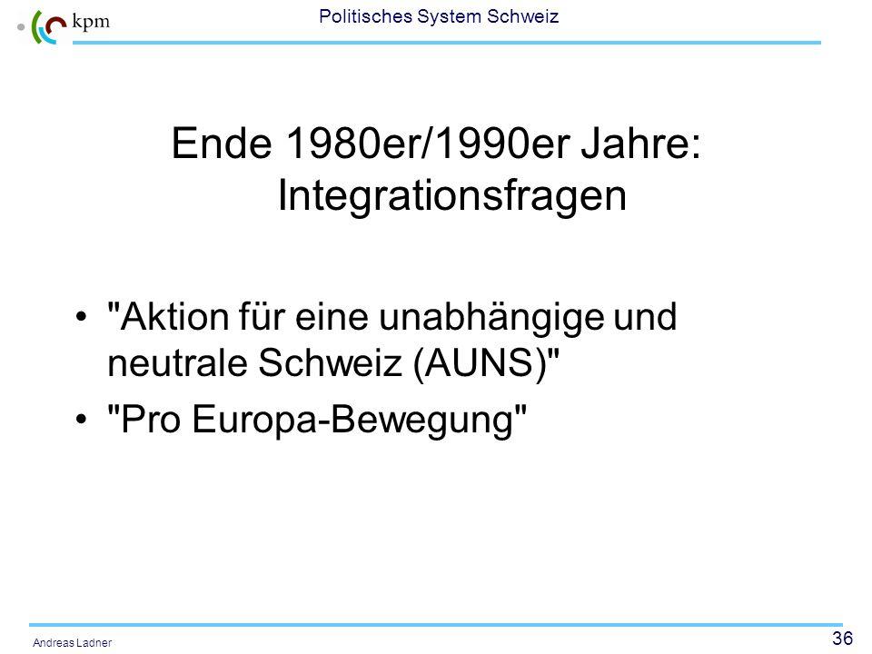35 Politisches System Schweiz Andreas Ladner 1980er Jahre