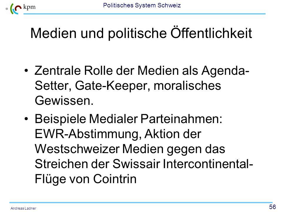 55 Politisches System Schweiz Andreas Ladner Aufschwung der parteieigenen Organe