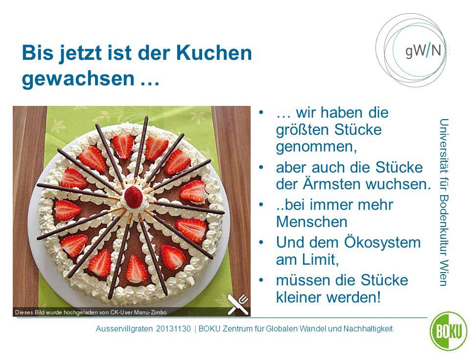 Universität für Bodenkultur Wien Ausservillgraten 20131130 | BOKU Zentrum für Globalen Wandel und Nachhaltigkeit Bis jetzt ist der Kuchen gewachsen …