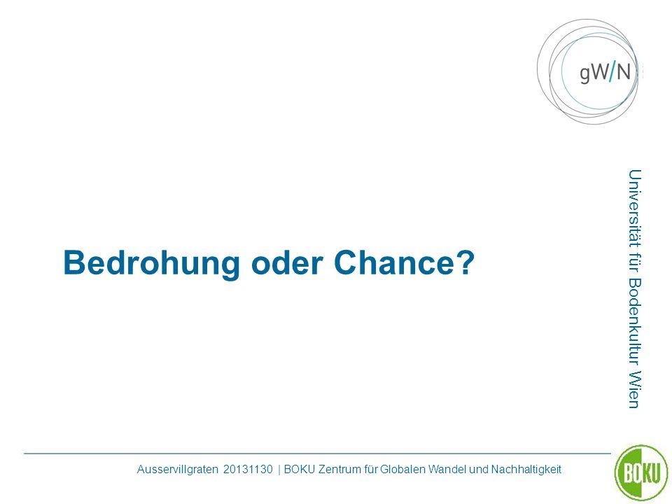 Universität für Bodenkultur Wien Ausservillgraten 20131130 | BOKU Zentrum für Globalen Wandel und Nachhaltigkeit Bedrohung oder Chance?