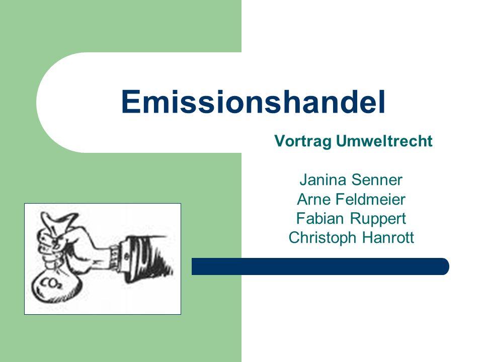 Emissionshandel Vortrag Umweltrecht Janina Senner Arne Feldmeier Fabian Ruppert Christoph Hanrott