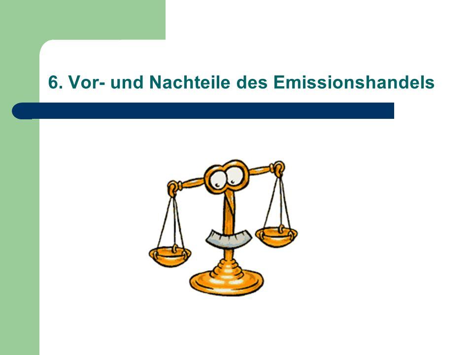 6. Vor- und Nachteile des Emissionshandels