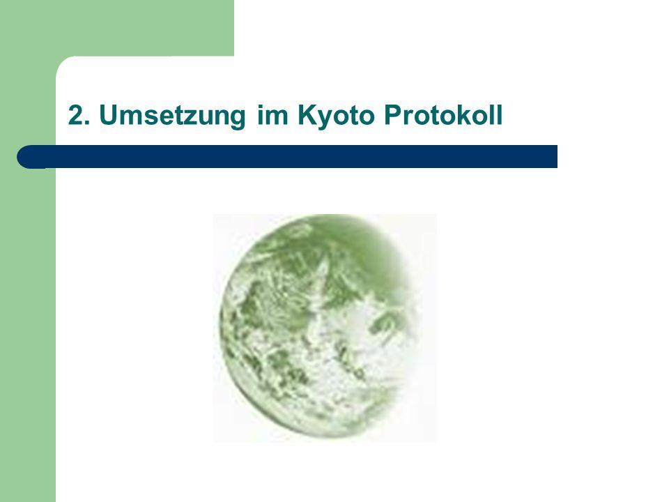 2. Umsetzung im Kyoto Protokoll