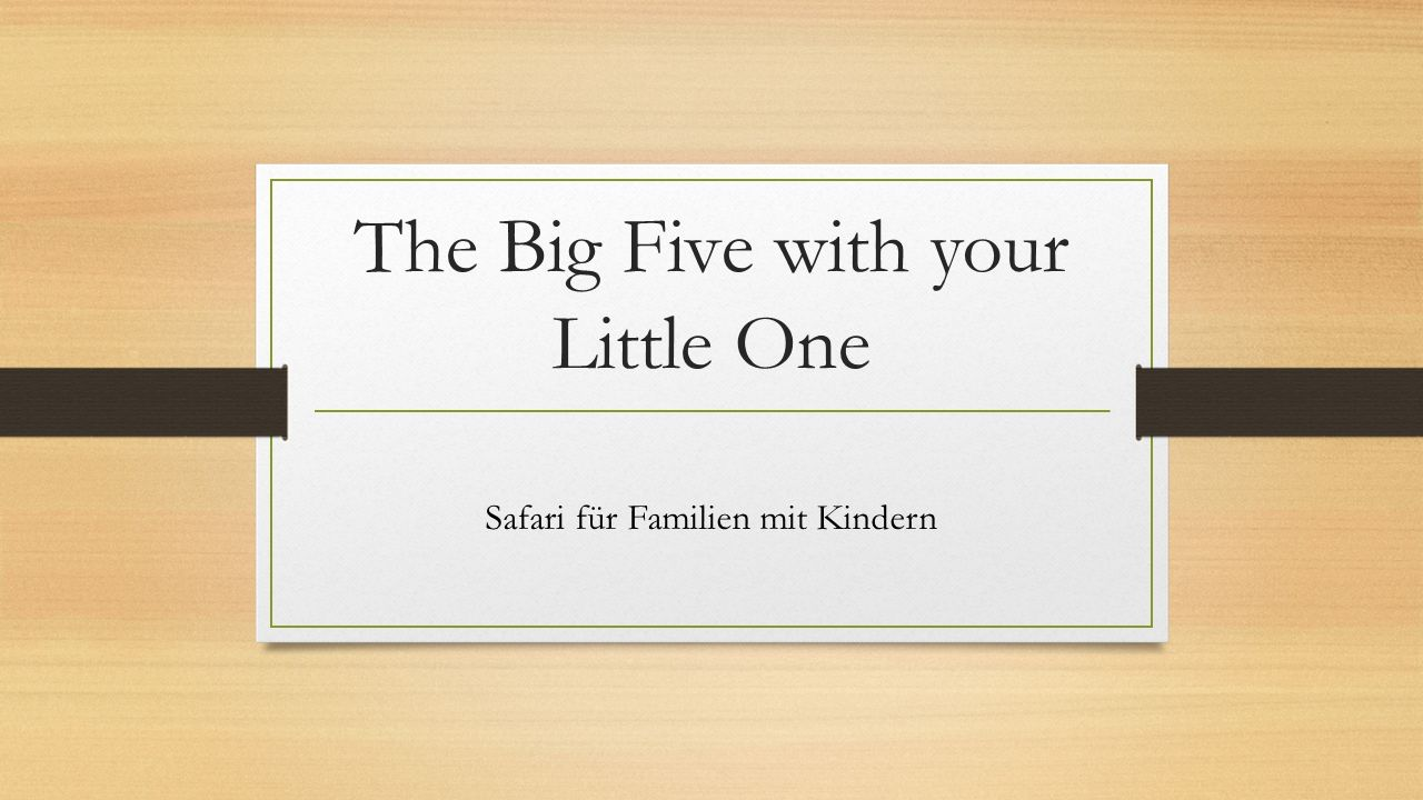 The Big Five with your Little One Safari für Familien mit Kindern
