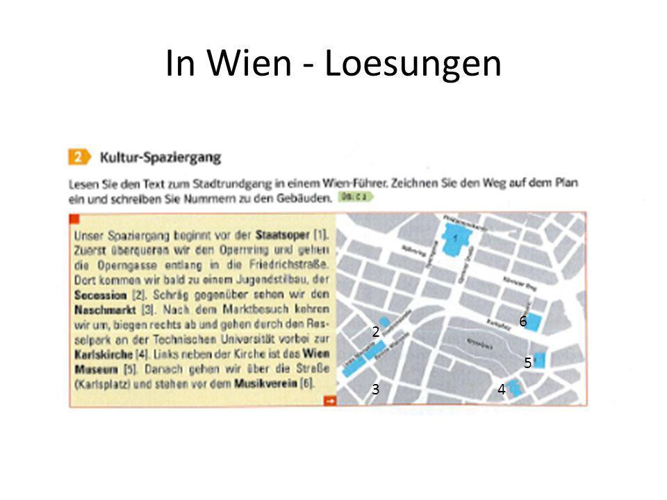 In Wien - Loesungen 2 34 5 6