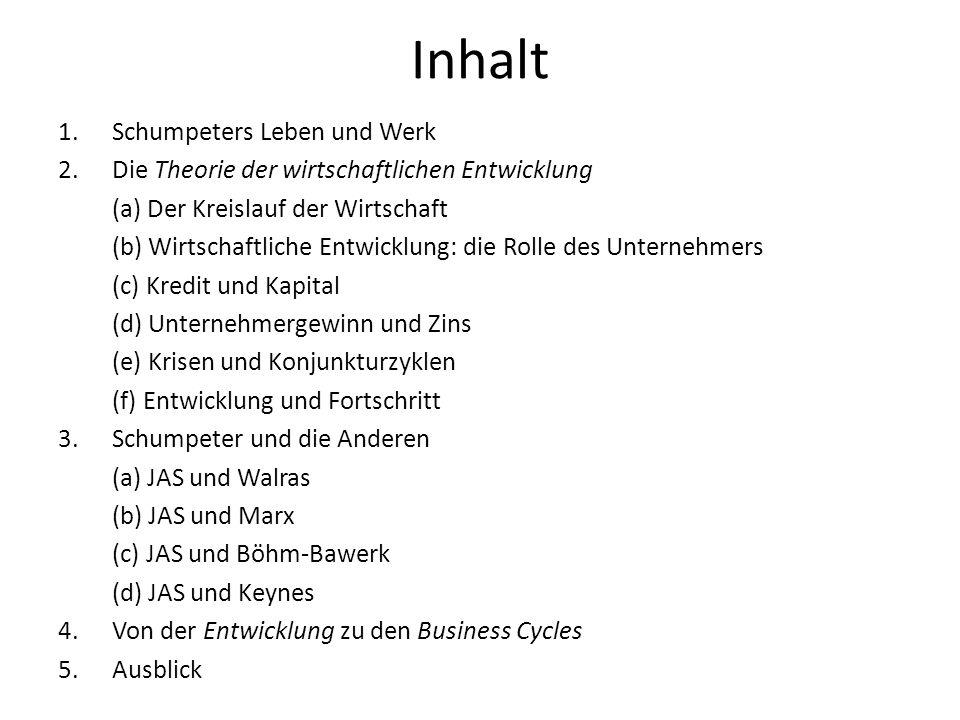 Eigene Arbeiten über Schumpeter Kurz, H.D.(2005).