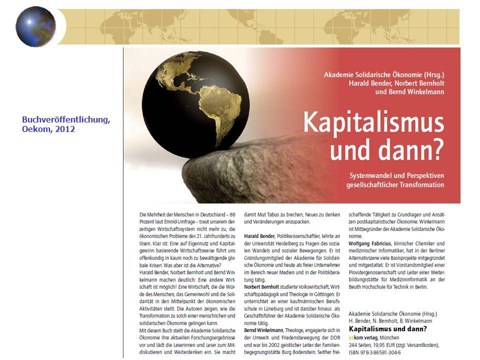 Buchveröffentlichung, Oekom, 2012