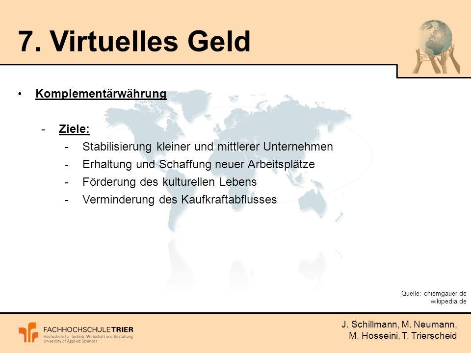 J. Schillmann, M. Neumann, M. Hosseini, T. Trierscheid 7.
