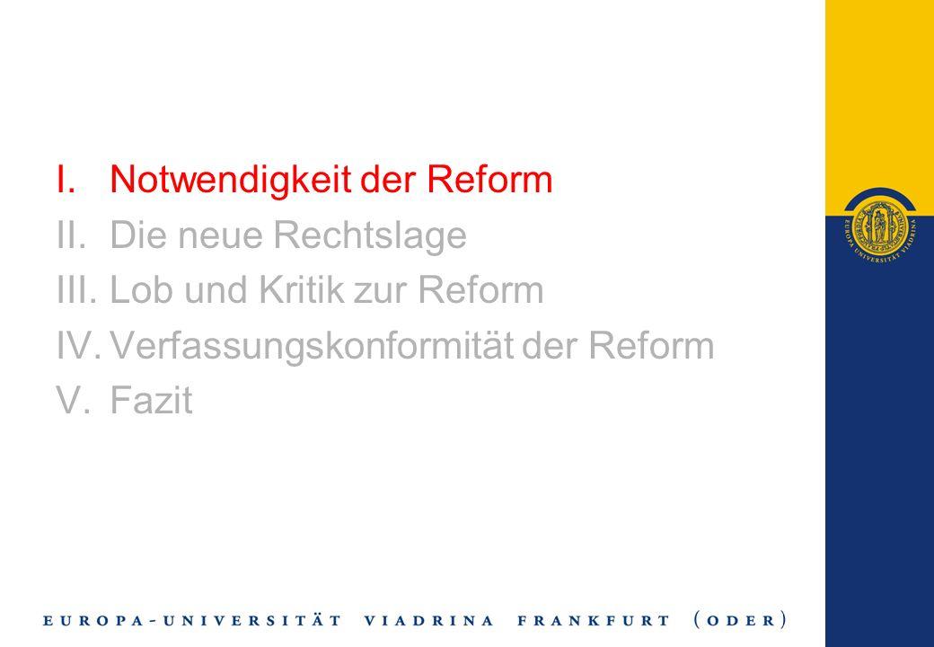 Die zukünftige Leistungsfähigkeit des Recht- und des Sozialstaates sind zentrale Grundsätze des Art.