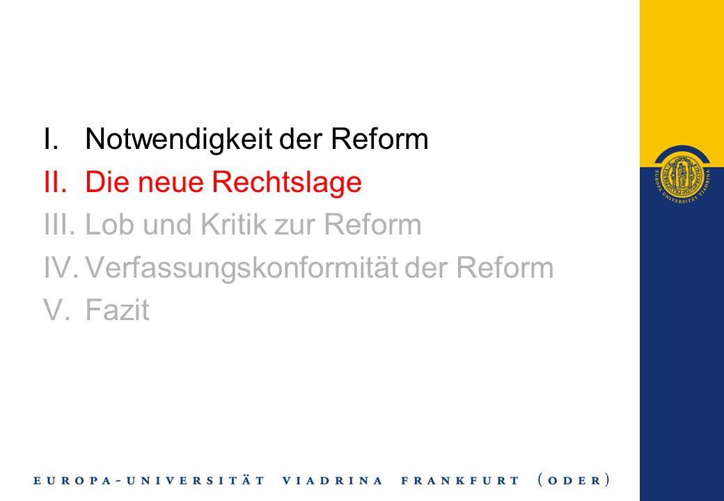 Verfassungskonformität - Änderung von Art.109 GG - 2.