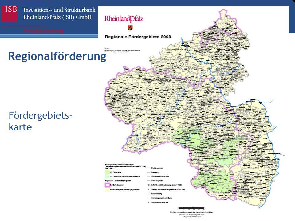Fördergebiets- karte Regionalförderung
