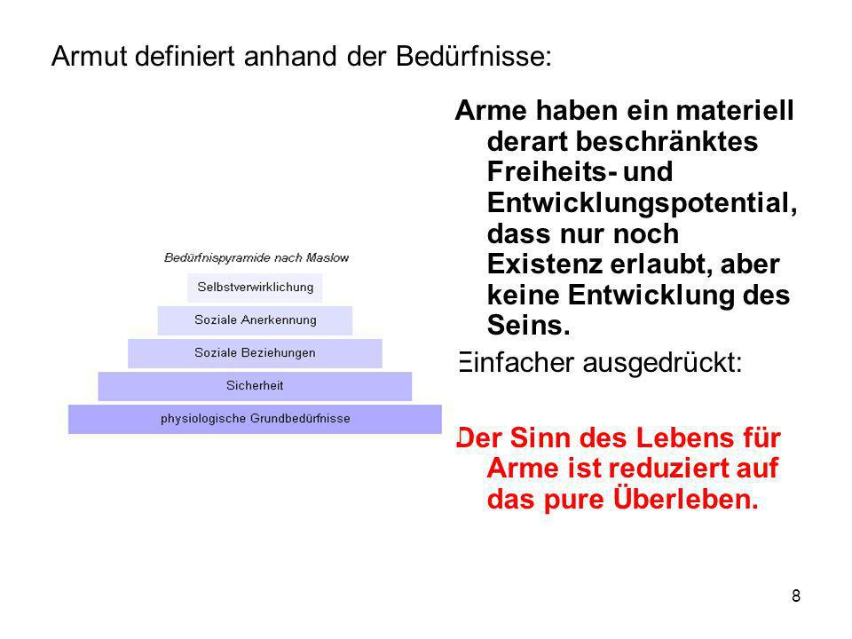 19 Strukturelle Bedingungen die helfen, Armut zu fördern: Zentrum-Peripherie-Ausschluss Dominanz der Grösse Die Dominanz der Stadt: s.