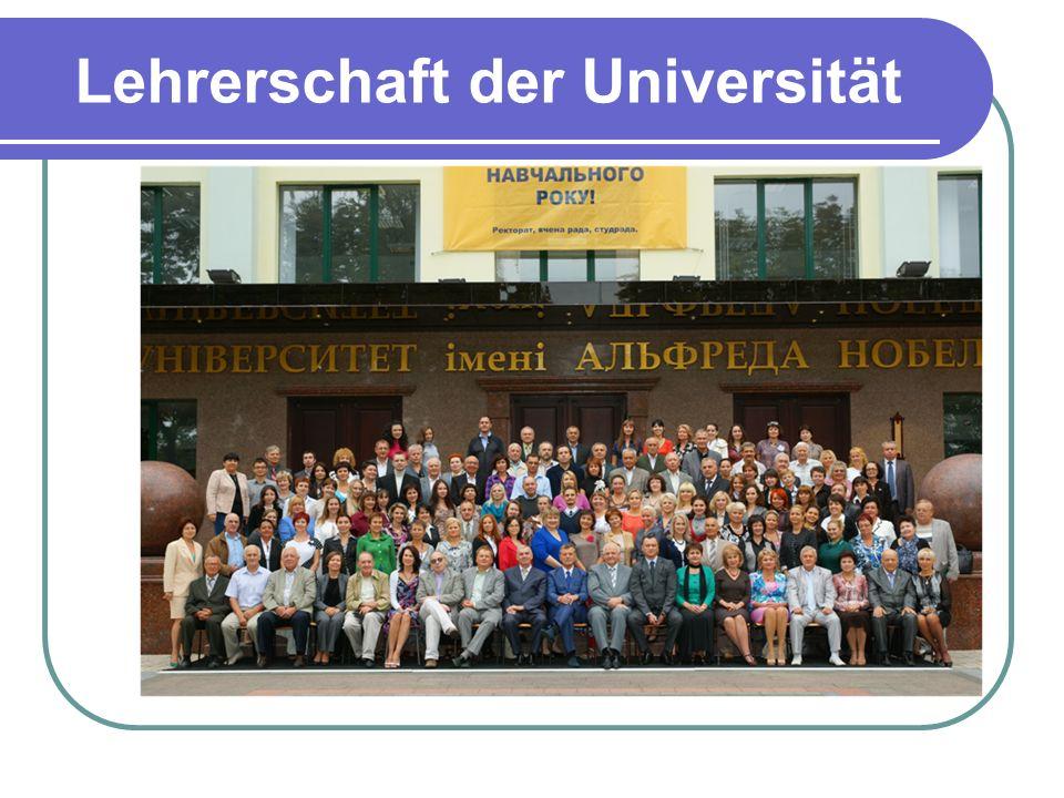 Lehrerschaft der Universität