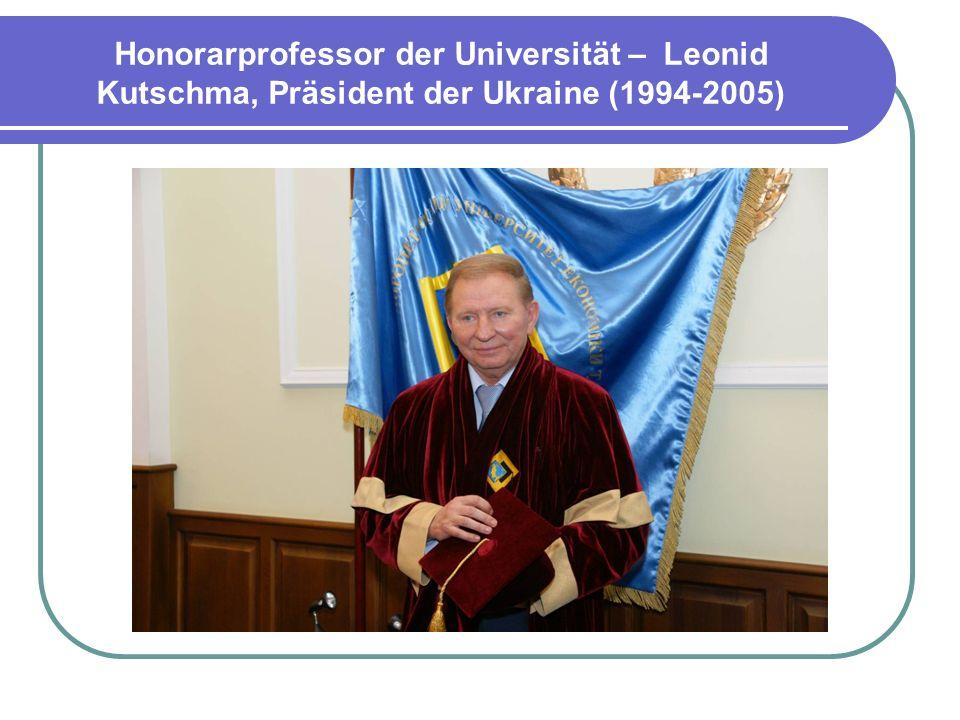 Honorarprofessor der Universität – Alexander Kwasnews`ki, Präsident der Republik Polen (1995 -2005)