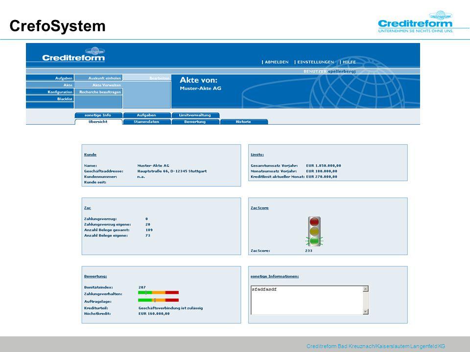 Creditreform Bad Kreuznach/Kaiserslautern Langenfeld KG CrefoSystem